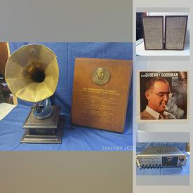 MaxSold Auction: This online auction features Jazz vinyl records, stereo components, music collectibles, single records and much more!
