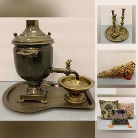 MaxSold Auction: This online auction features Dresden, McCoy pottery, China, vintage electronics, bentwood chair, cane back chairs, MCM collectibles, chandelier, costume jewelry and much more.