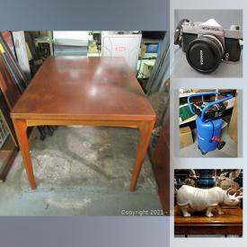 MaxSold Auction: This auction features stone-carved figurines, assorted vintage art craft, furniture, assorted cameras and lenses, Memorabilia, custom jewelry, sterling silver, chinaware, signed art, housewares, and much more!!