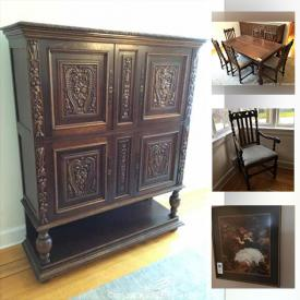 MaxSold Auction: This online auction features vintage windows & doors, cement planters, solar garden lights, antique furniture, chest freezer, Christmas figurines, ornaments, & stockings, humidifier, art glass and much more!