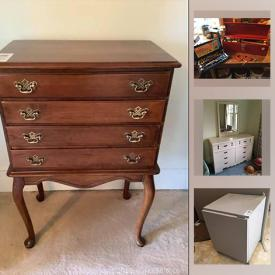 MaxSold Auction: This online auction features toys, tools, yard tools, patio set, drafting table, Gibbard bedroom furniture, TV, vintage side tables, art glass, small kitchen appliances, chest freezer and much more!