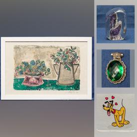 MaxSold Auction: This online auction features sterling silver, MCM furnishings, Sowa & Reiser signed hand-painted Disney prints, Jade jewelry, silver jewelry, Haida carved Totem Pole, Asian coins, costume jewelry, Persian belt and much more!