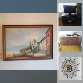MaxSold Auction: This online auction features artworks, furniture, clock, collectibles, lamps, trunks, bar stools, heaters, Hachi receiver, Belleek China, clothing, kitchenware, glassware, demitasse, Mobility, Electric Fireplace, cleaning supplies, vacuum, ladder, tools, hardware and much more.