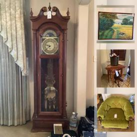 MaxSold Auction: This online auction features vintage furniture, statues, paintings, home accent pieces, Jade Tree, Wedgewood, crystal stemware, Lladro, and much more.