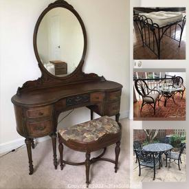 MaxSold Auction: This online auction features stylish wood furniture, home decor and apps, electronics, sporting goods, artwork, ceramic, silver plate, stealing and records and much more.
