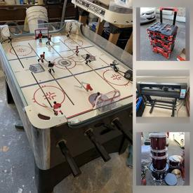 MaxSold Auction: This online auction features Tablet, DVDs, Drums, Toys, Games, NIB Security system, RC Car, Power Tool, Rod Hockey game, Vinyl Cutters and much more!