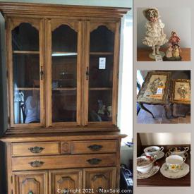 MaxSold Auction: This online auction features lamps, chinaware, Papasan chair, cedar-lined wardrobe, furniture, costume jewelry, bar stools, art, cookie jar, tools, power washer and much more.
