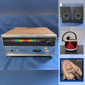 MaxSold Auction: This online auction features collectibles such as band t-shirts, MCM kitchenware, LP albums such as Louis Armstrong, The Byrds, and Mick Jagger, small kitchen appliances, electronics such as Sony amplifier, Viking receiver, Sharp recorder, speakers, DVD player and much more!