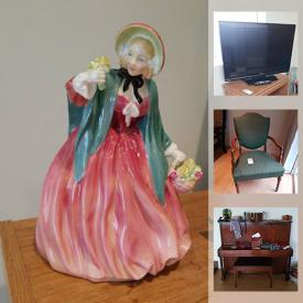 MaxSold Auction: This online auction features garden tools, sports equipment, books, art supplies, TV, small kitchen appliances, sterling silver jewelry, Teak furniture, stone sculptures, shop-vac, sewing supplies, guitar, tools and much more!