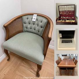 MaxSold Auction: This online auction features marble art stands, area rugs, W. SCHILLIG Sky armchair, beer steins, art glass, power tools, washer & dryer, small kitchen appliances, MacBook Pro, Sumi art supply box, Asian decor and much more!