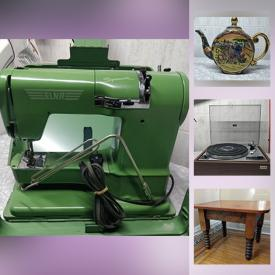 MaxSold Auction: This online auction features Vintage audio equipment and electronics, artwork, household items, power tools, vintage and modern furniture, and much much more.