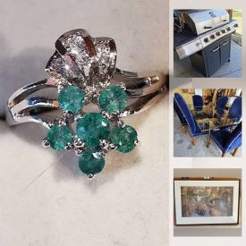 MaxSold Auction: This online auction features bicycles, antique and vintage linens, jewelry boxes, sterling silver jewelry, electric fireplace, doll furniture, primitive, tires, patio furniture, dining room furniture, tools, cast iron stove, grill chef BBQ and much more.
