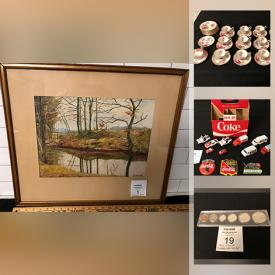 MaxSold Auction: This online auction features vintage advertising signs, stamps, vintage tools, vintage toys, movie posters, costume jewelry and much more!