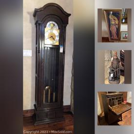 MaxSold Auction: This online auction features furniture, rugs, stainless steel shelving, lamps, antiques, Lladro figurines, art, Disney memorabilia, Disney art, costume jewelry, tools and much more.