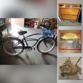 MaxSold Auction: This auction features power tools, hand tools, tool chest, Tons of Christmas decorations, bikes, vices, Teak furniture, POKEMON games, collector coins and stamp sets and much more.