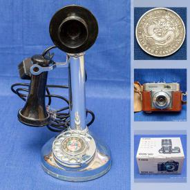 MaxSold Auction: This online auction features 3D art, watches, coins, model race cars, silver bracelets, fresh water pearl necklace, carved Jade bangles, cameras and much more!