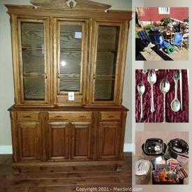 MaxSold Auction: This online auction features vintage VicCraft dining set, hutch, outdoor furniture and yard grooming supplies, vintage glass and crystal, servingware, kitchen appliances and cookbooks, Lamps, Linens, home decor and much more!