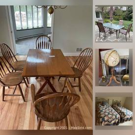 MaxSold Auction: This online auction features pewter, Waterford, furniture such as wooden table with chairs, love seat, and IKEA chairs, bakeware, dishware, porcelain, glassware, small kitchen appliances, HP camera, home decor, hardware, power tools, propane grill, Yamaha receiver, garden supplies, and more!