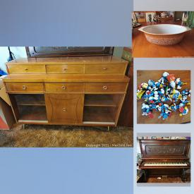 MaxSold Auction: This online auction features TV, vintage pyrex, art pottery, small kitchen appliances, Teak furniture, art glass, electric lift bed, vintage Wade tea figurines, stationery exerciser, musical instruments, chest freezer and much more!
