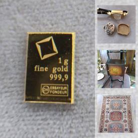 MaxSold Auction: This online auction features Fine Gold bars, Engagement ring, watches, Funko pops, art pottery, vintage car wall art, vintage postcards, small kitchen appliances, antique Chifforobe and much more!