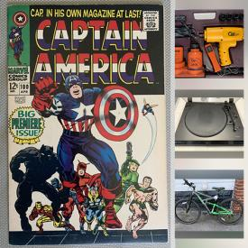 MaxSold Auction: This online auction features Rare comic books, Boxed lots of Vintage Vinyl LPs, Radios, 8 track, Stereos, Turntables, Mountain bike, Canadian Pro Sports memorabilia and gear, Karaoke, Board games, Telescopes, Power tools, Golf Clubs, Bear themed novelties, Electric guitar, Women's shoes, Toys and much more!