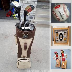 MaxSold Auction: This online auction features vintage toys, Hockey cards, office supplies, PlayStation 2 games, Trading cards, electronics, sporting goods, diecast cars, Star Wars, signed baseballs, Nintendo DS games and much more.