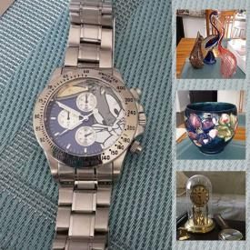 MaxSold Auction: This online auction features men's watches, costume jewelry, Moorcroft, art glass, tools, cameras and much more!