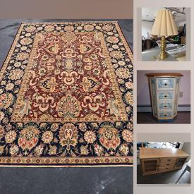 MaxSold Auction: This online auction features furniture, clothing racks, Dog crate and supplies, area rugs and much more.