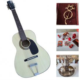 MaxSold Auction: This online auction features Inspirado, silver plate tea set, vintage vinyl LPs, pyrex, MCM Taylor Smith dinnerware, Xbox Instruments, acoustic guitar, signed art, National Geographic magazines, vintage bottles, linens, furniture, TV, garden supplies, Holiday and Novelty jewelry, revere ware and much more!