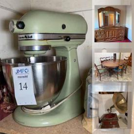 MaxSold Auction: This online auction features Osborne computer, collectible teacups, small kitchen appliances, vintage clocks, Goebel Hummel figurines, office supplies, Treadmill, Thomasville Furniture, watches, first edition books, vintage recording equipment, costume jewelry, vintage vacuum tubes. camping gear and much more!