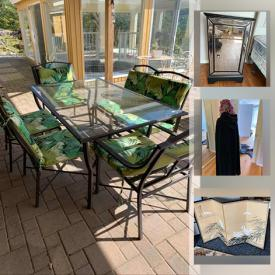 MaxSold Auction: This online auction features high-end clothing, pine furniture, linens, Jose Trinidad prints, art supplies, original watercolours, TV, area rugs, portable AC unit, office equipment, art glass, Patio furniture, stand-up freezer, small kitchen appliances and much more!
