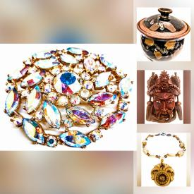 MaxSold Auction: This online auction features Art Pottery, Art Glass, Vintage Cloisonne, Inuit Soapstone Carving, Original Artwork, Vintage Brooches, Art Glass Jewelry, Art Prints, Vintage Hand-Painted Tiles, Vintage Pyrex, Mink Coat, Vintage Photography, Collectible Teacups and much more!