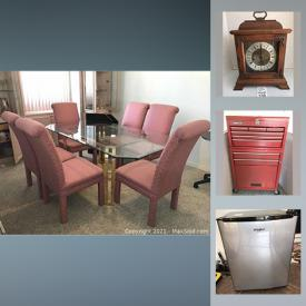 MaxSold Auction: This online auction features furniture, Cedar chest, steins, collectibles, Angel statues, artwork, jewelry, Patio furniture, tools and much more.