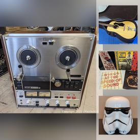 MaxSold Auction: This online auction features musical instruments, stereo electronics, records, baseball cards, Star Wars toys & T-shirts and much more.