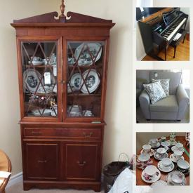 MaxSold Auction: This online auction features wicker furniture, chair, storage cabinet, bookcase, dropleaf table, chairs, side tables, corner cabinet, recliner, buffet, piano, Wade figures, jewelry, art, health aids, china, ceramics, vacuum, collectibles, memorabilia, servingware, stained glass pendant, small kitchen appliances, gardening tools, wooden crates, garden cultivator and much more!