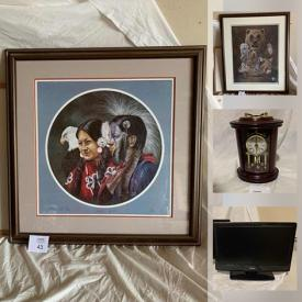 MaxSold Auction: This online auction features silver plate, TY collectibles, steins, rocker recliner, costume jewelry, glassware, framed wall art, cookware, steam cleaner, crafting supplies, Philips boom box, Danby bar fridge, computer monitors, trading cards and much more!