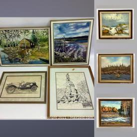 MaxSold Auction: This online auction features signed paintings, French tapestry, oil on board, oil on canvas, vintage and antique prints, sketches and much more.