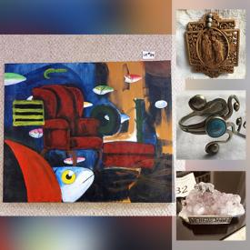 MaxSold Auction: This online auction features Antique Swedish Cutter, Art Glass, Costume Jewelry, Watches, Children's Books, David Winters Collectibles, Original Artwork, Youth Wetsuits, Stamps, Lladro Figurines, Wood Carvings and much more!