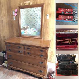 MaxSold Auction: This online auction features furniture, pottery, pyrex, vintage cameras, vintage boomboxes, costume jewelry, vintage board games, matchbox, Hot Wheels, Star Trek, exercise equipment, Huffy bike and much more.