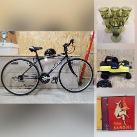 MaxSold Auction: This online auction features sports equipment, Waterford crystal glasses, telescope, power & hand tools, video game system, drone, pressure washer, garden tools, costume jewelry, Jigsaw puzzles, generator, snow blower, work lights and much more!