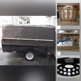 MaxSold Auction: This online auction features a Trailer, Stair climbing cart, Float Coat, Bike, Fitness equipment and Physical Therapy gear, Computer Equipment and Components, Karaoke, Smart Watches, Sporting goods including Golf Clubs and fishing gear, Composter, Car care, Workshop Hand and Power Tools, Hardware, Home improvement and plumbing supplies, Mosaic tiles, Tires, Collectible coins sets including Canadian Quarters and Silver Dollars, Men's and Women's clothing, Linens China cabinet, Vintage teen books and much more!