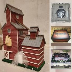 MaxSold Auction: This online auction features Ho trains featuring different designs such as a Peanuts Train, Obama Train, Star Wars Train and more, Hawthorne Village buildings, Bachmann-Hawthorne Village accessories, miniature buildings, Mt. Rushmore train tunnel and much more!