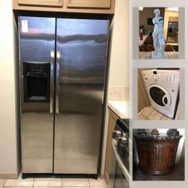 MaxSold Auction: This online auction features electric washer & dryer, refrigerator, small kitchen appliances, Mark Roberts Tennis Fairies, depression glass, Helmet speakers, stained glass, Euro body shaper, hand tools, golf & Tennis gear and much more!