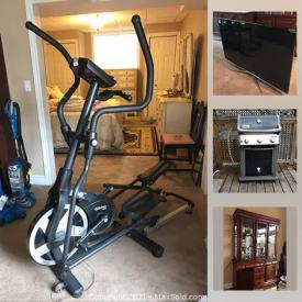 MaxSold Auction: This online auction features TV, area rugs, numbered signed prints, beauty appliances, crystal, Weber grill, small kitchen appliances, Deacon's Bench, camping supplies, golf clubs, power & hand tools, Cedar chest, shelving units, garden tools and much more!