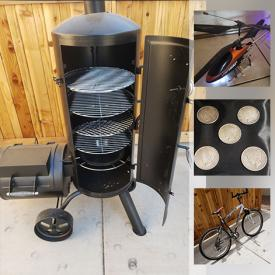 MaxSold Auction: This online auction features Heat Machine, Kitchen aid Mixer, Vessel Sink, Silver Dollar Coins, Coca-Cola Memorabilia, Signed Artwork with COA, Silver Watch, Lladro, Exercise Equipment, Wine Cooler Fridge, Garden Statues, TV, XBOX, Playstation and much more.
