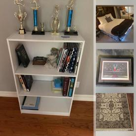 MaxSold Auction: This online auction features beds, bookshelves, bicycle, wedding dress, Lladro figures, Star Trek Voyager memorabilia, CDs, cameras, lamps, wool rugs, patio furniture, Artisan pottery, signed art and more!