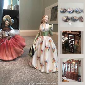 MaxSold Auction: This online auction features Thomas Kinkade Plates, Royal Doulton figurines, art glass, small kitchen appliances, tools, power washer, pet crates, costume jewelry, binoculars, Rosenthal China, area rugs, office supplies and much more!!
