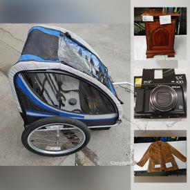 MaxSold Auction: This online auction features washing machine, power tools, vintage desk and furniture, hand tools, Christmas villages, kitchen appliances, singer sewing machines, Nikon, Wii, leapfrog, tons of fabric and much more.