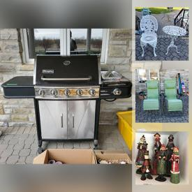 MaxSold Auction: This online auction features patio furniture, filing cabinet, coffee table, home decor, garden decor, glassware, faux floral arrangements, holiday decor, craft supplies, board games, books, luggage, linens and much more!