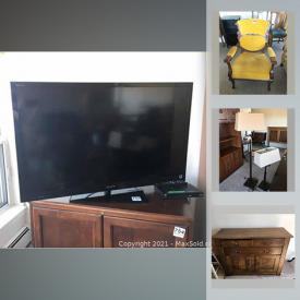 MaxSold Auction: This online auction features costume jewelry, patio furniture, Tv, hand tools, fishing pole, small kitchen appliances, water cooler, office supplies, outerwear, stacking washer/dryer and much more!